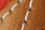 Sirens Dandies Red Leather Duffle Bag Detail